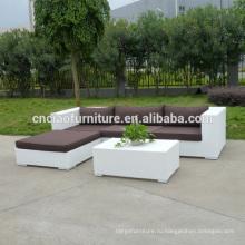 Китай Поставщик Новый Дизайн Белый Плетеная Диван Гостиная Мебель