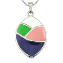 Multicolor Resin Hollow Back Lady Jewelry Pendant