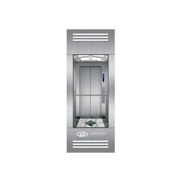 Ascenseur d'observation sans machine avec un mur de visite de voiture