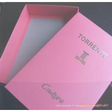 Boîte d'emballage de luxe en papier Toptint avec logo personnalisé