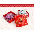 Caja plástica del caramelo de la boda del chocolate del regalo festivo al por mayor chino