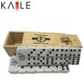 Изготовленные на заказ черные точки Домино Поставщик золота Китая в деревянной коробке