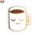 Pin de taza de café de esmalte duro personalizado de metal