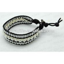 Amitié Perles d'eau douce Perles rondes Bracelets enroulables