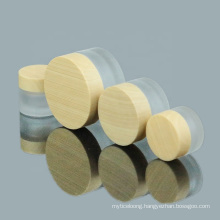 Custom Glass Cosmetic Cream Jar Wholesale Frosted Glass Cream Jar with Water Transfer Printing Cap