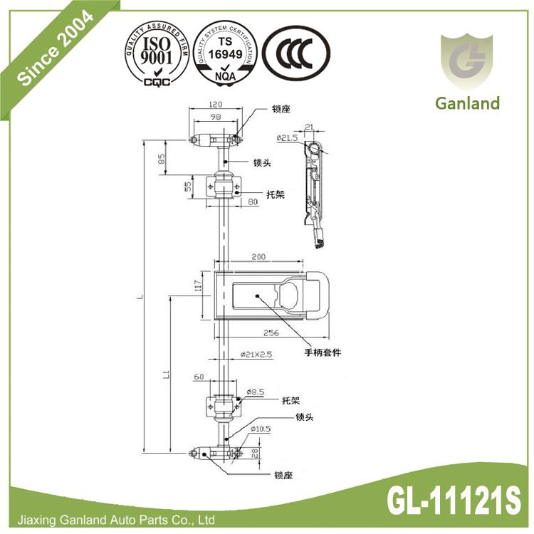 STAINLESS STEEL DOOR GEAR GL-11121S-2