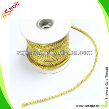 gold wire rope round braided cord