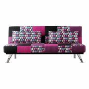 Fabric Futon Folding Lounge Three-Seater Sofa Bed