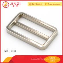 Accessoires de mode sacs à main en alliage de zinc boucle de ceinture carrée