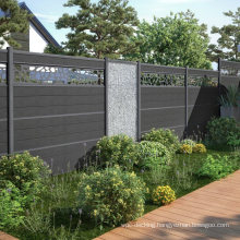 Applicable to Cement Grass Land 8FT WPC Post Wood Plastic Composite Garden Farm Fence Swimming Pool Fence for Home Hotel Villa