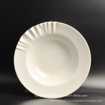 Placa de cerámica de la vajilla de la fábrica de Guangdong