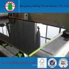 MDF enfrentado UV de alto brilho da cor preta da fabricação