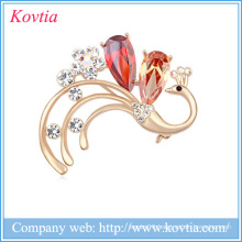 2016 alibaba website rhinestone brooch to a flower fashion jewelry 2015