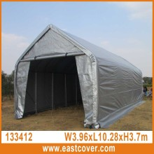 13'x34'x12' Peak Roof W3.96xL10.29x3.7m UV-resistant used portable carport garage