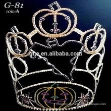 New rhinestone grande 2015 mais recente coroa de abóbora tiara halloween