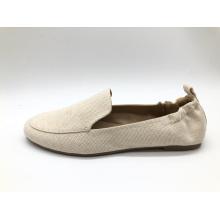 Женские удобные мягкие туфли без шнуровки с круглым носком на плоской подошве