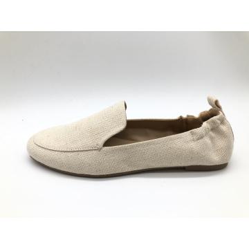 Zapatos cómodos y suaves con punta redonda y sin cordones para mujer