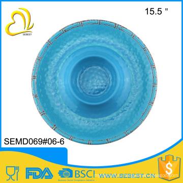 """высокое качество 13.5"""" меламина круглая форма печати ресторан тарелки"""