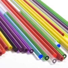 Красочный Жесткий пластиковый трубы PVC Подгонянный процедить 2мм жесткая пластиковая трубка