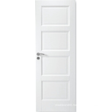 Simple Style Interior White MDF Panel Door with Stile and Rails