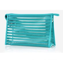 Fashion Striped Clear PVC Cosmetic Toiletry Wash Bag (YKY7534)