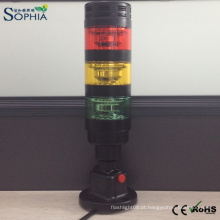 Luz de advertência da máquina leve da torre do sinal do diodo emissor de luz com campainha eléctrica
