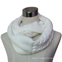 Lady Fashion Acrylic Knitted Winter Infinity Scarf (YKY4371)