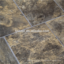 Piso laminado indoor fácil clique laminado pavimentação EIR & mármore superfície piso plástico