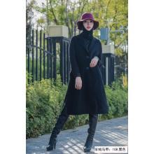 Black Long cashmere Suit vest