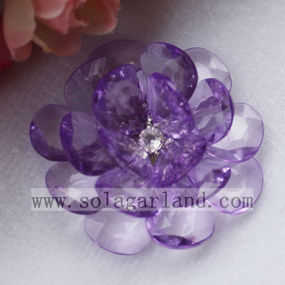 Acrylic Crystal Beaded Flower