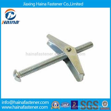 China fornecedor de zinco banhado mola parafusos / âncora de parede
