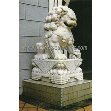 Stone Sculpture Marble Lion for Garden Animal Statue (SY-D011)