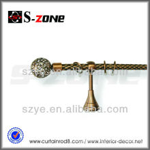 Complete single curtain rod sets with ball finials