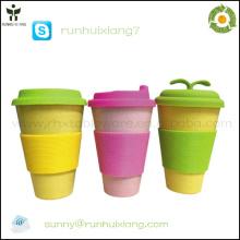 2014 nouvelle tasse de café écologique en fibre de bambou