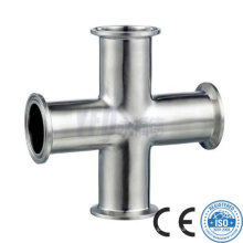 Sanitary Stainless Steel Long-Type Clamped Cross