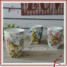 Moderner Entwurfs-Großverkauf-keramischer Porzellan-Kaffeetasse-Becher