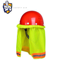 High Visibility Reflective safety hard hat PVA neck sun shade