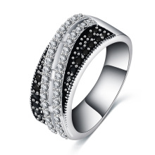 Women Black Zircon Wedding Ring CRI0503