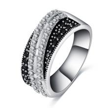 Mulheres anel de casamento de zircão preto cri0503