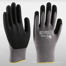 15 Gauge Nylon Spandex Liner Black Sandy Nitrile Dipped Gloves