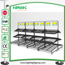 Supermaket Store Metall Obst Gemüse Display Rack mit Korb