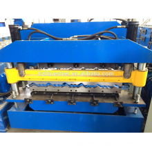 Long Life Automatic Roofing Sheet Profile Machine , Good Quality Color Aluminum Galvanized Roof Tile Roll Forming Make Machine ,