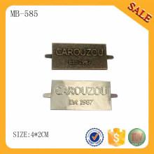 MB585 Bag accessory hardware metal custom brand logo label for handbags/hat/wallet