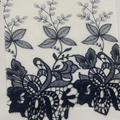 Multi-Colors 100% Cotton Embroidered Fabric