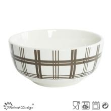 5,5 pouces en porcelaine blanche avec décalque de riz