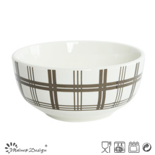 Porcelana blanca de 5.5 pulgadas con tazón de arroz decal