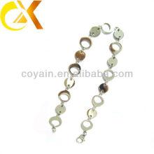 Collares de bloqueo de los anillos de las mujeres al por mayor de la plata de la joyería del acero inoxidable