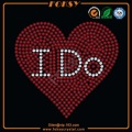 I Do rhinestone transferências Red heart designs