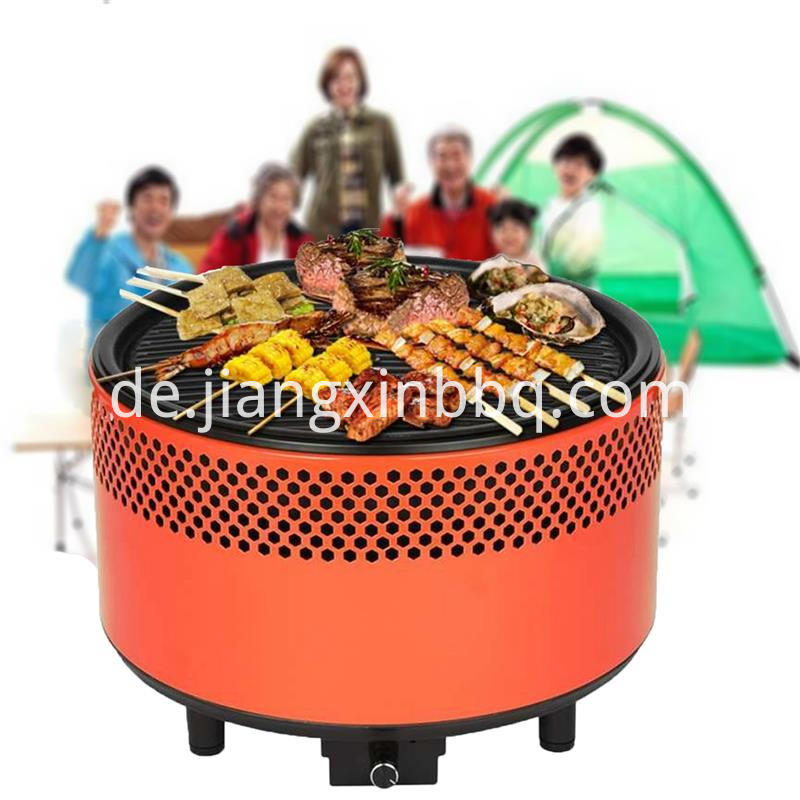 Portable Outdoor Charcoal Grill Orange