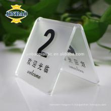 Jinbao table affichage hôtel restaurant menu 1/2 A4 acrylique titulaire